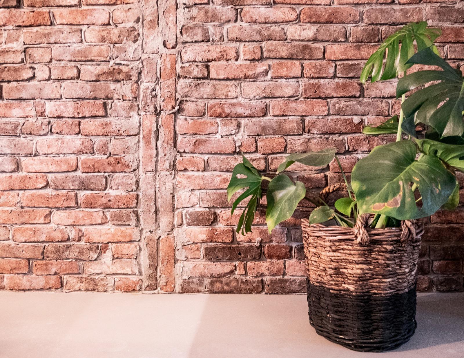 Stonepress alternatief voor baksteen steenstrips, baksteen behang en betonlook voor in de keuken
