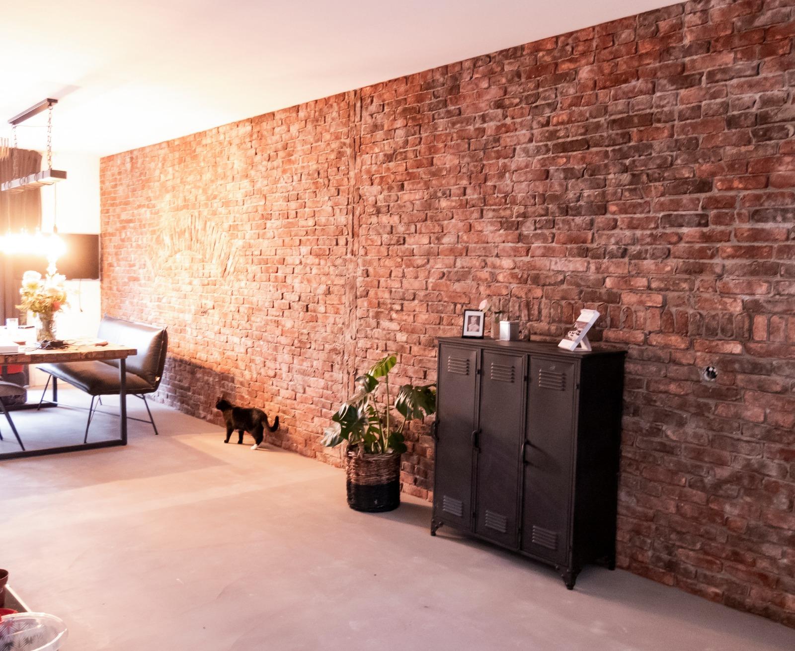 Echte bakstenen steenstrips industriele afgebrokelde muur van StonePress