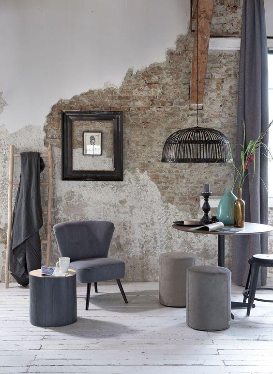 Foto 39 s oude industri le bakstenen muren stonepress for Interieur trendkleuren 2018