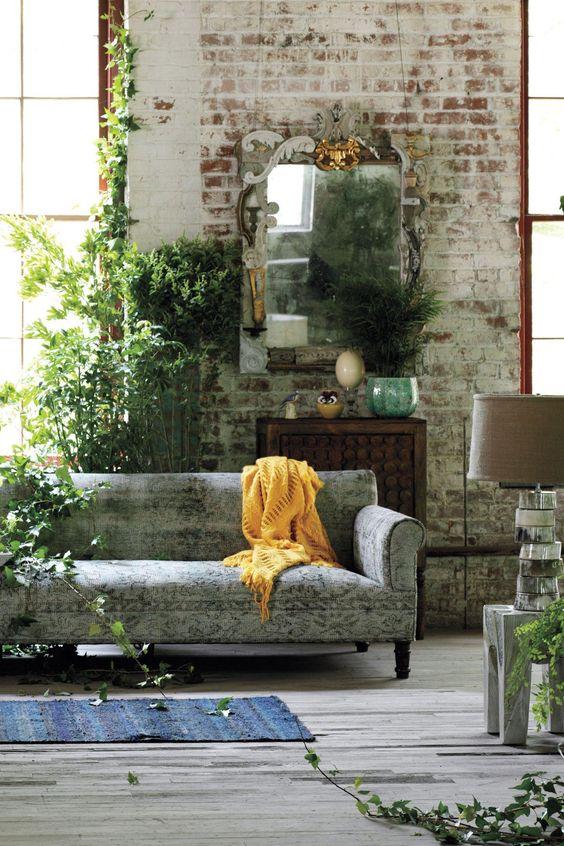 Foto 39 s oude industri le bakstenen muren stonepress - Bakstenen muur woonkamer ...